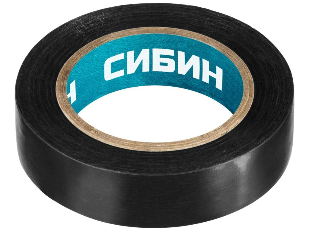 Изолента Сибин ПВХ 15mm x 10m Black 1235-2