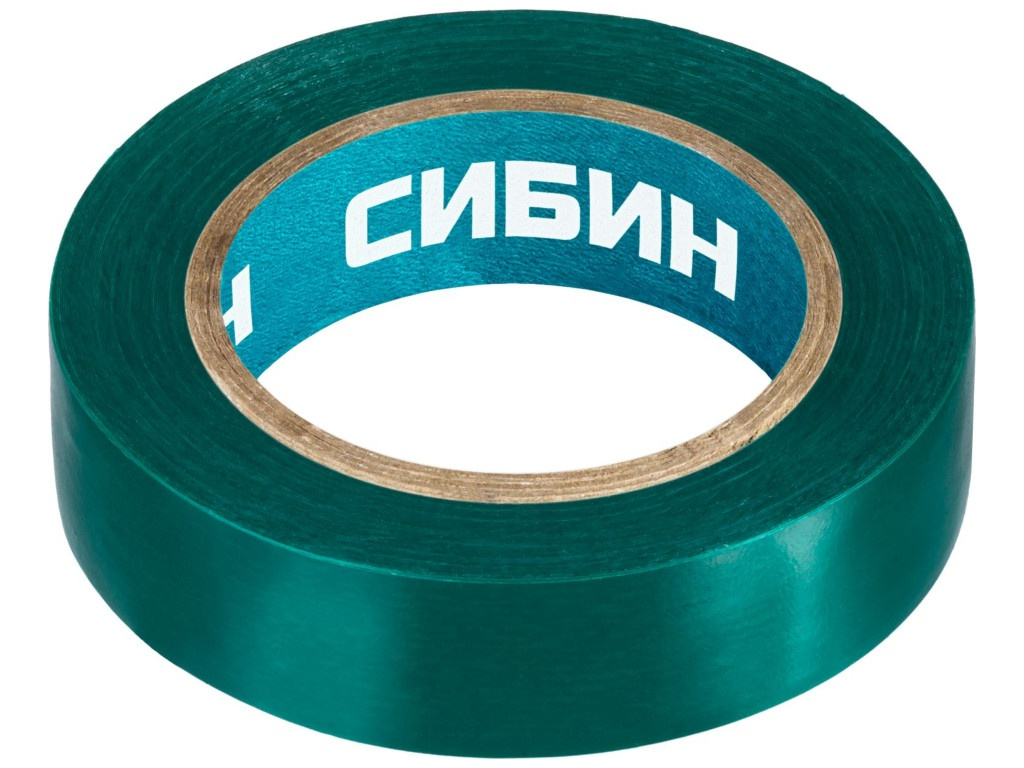 Изолента Сибин ПВХ 15mm x 10m Green 1235-4