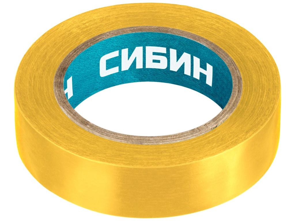 Изолента Сибин ПВХ 15mm x 10m Yellow 1235-5