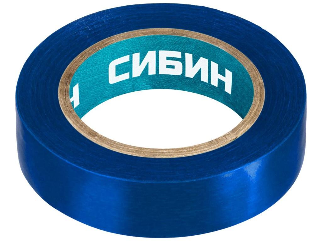 Изолента Сибин ПВХ 15mm x 10m Blue 1235-7