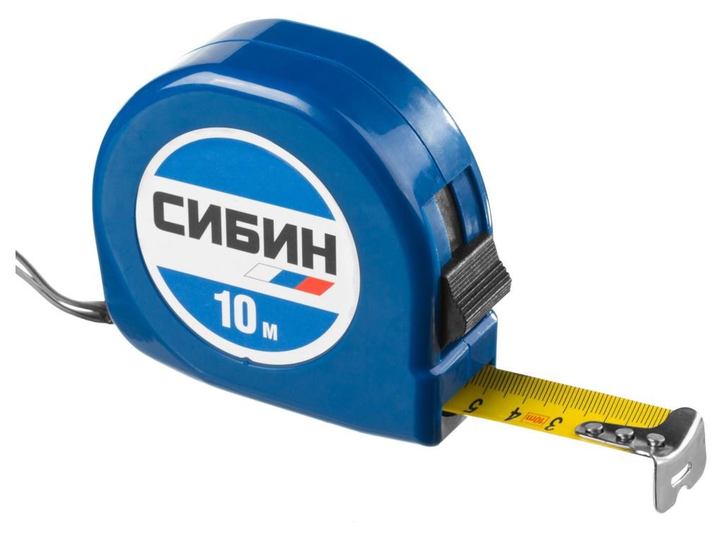 Рулетка Сибин 10m x 25mm 34020-10-25