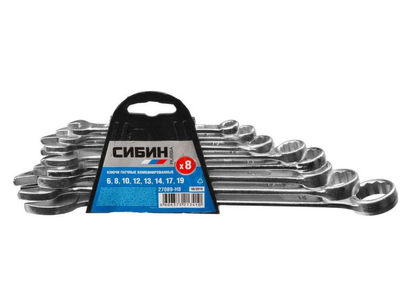 Набор ключей Сибин 6 - 19mm 8шт 27089-H8 / z01