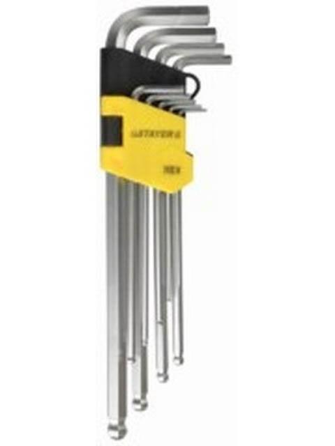 Набор Ключей Stayer Master 9пр 2741-H9-2 набор ключей sata 09105a 9пр угловые сфер кон metric пласт блист
