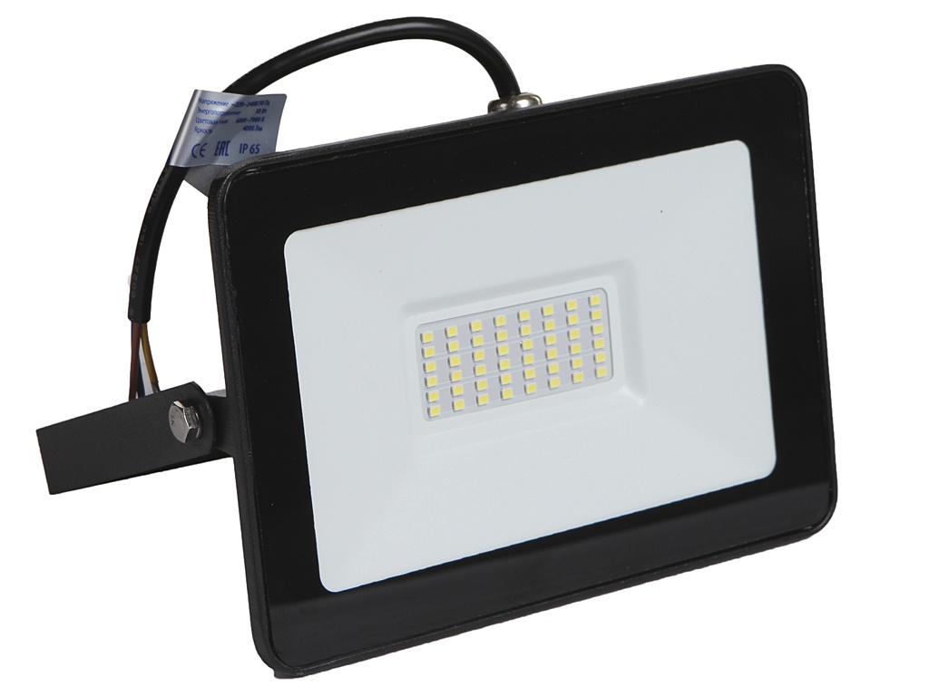 Прожектор ELF Slim SMD 50W IP65 Black ELF-FLsmdSLIM-50W-black-W