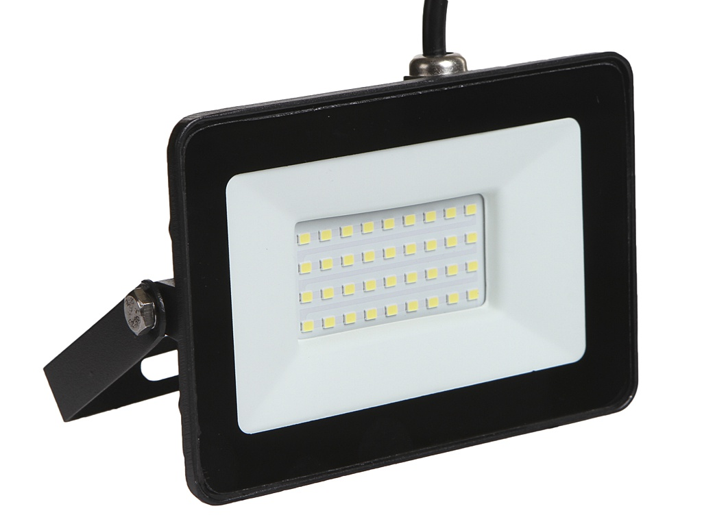 Прожектор ELF Slim SMD 30W IP65 Black ELF-FLsmdSLIM-30W-black-W