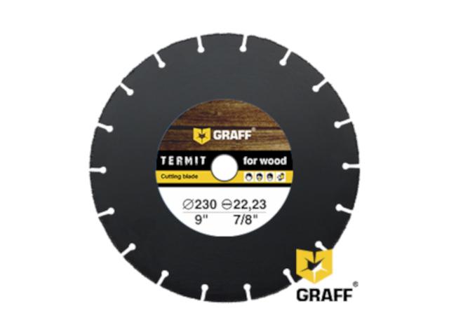 Диск Graff Termit 230 отрезной по дереву для УШМ 230x22.23mm
