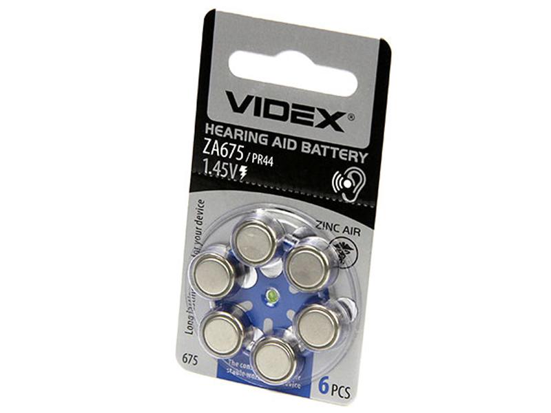 Батарейка PR44 - Videx ZA675 6BL (6 штук)