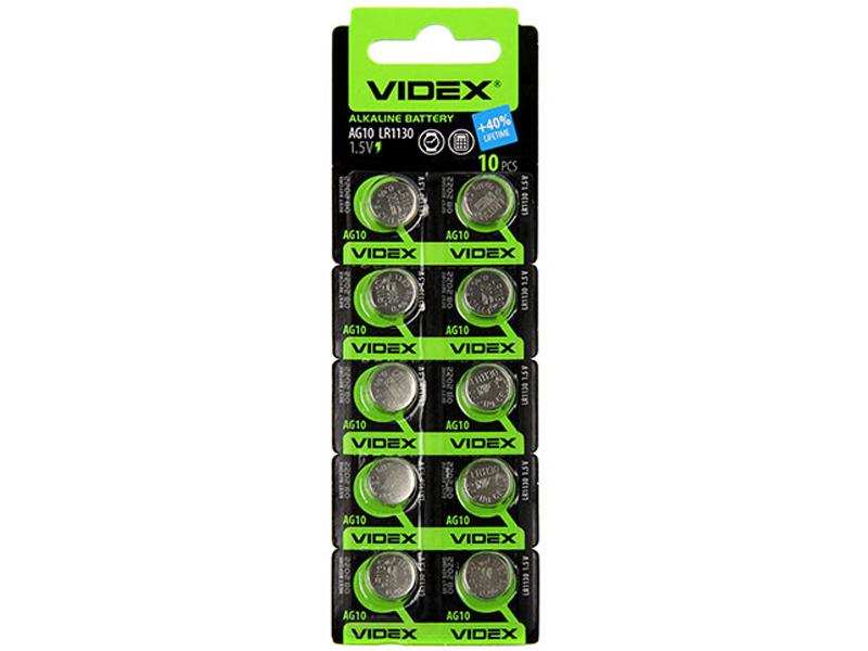 Батарейка LR1130 - Videx AG10 10BL (10 штук)