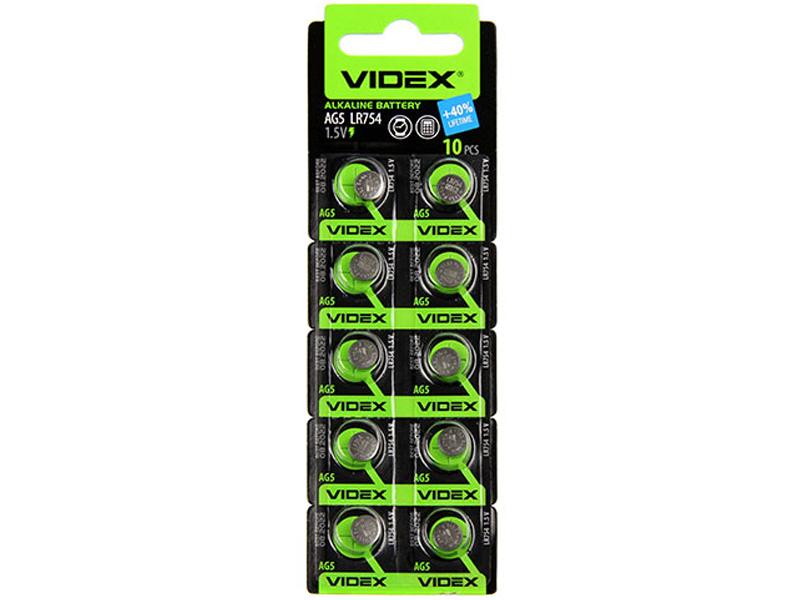 Батарейка LR754 - Videx AG5 10BL (10 штук)