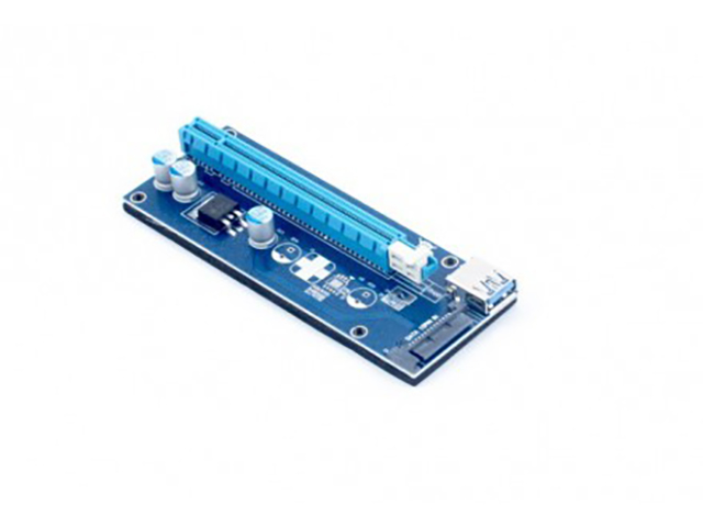 Аксессуар Райзер KS-is PCIe 1x в 16x с питанием SATA KS-347