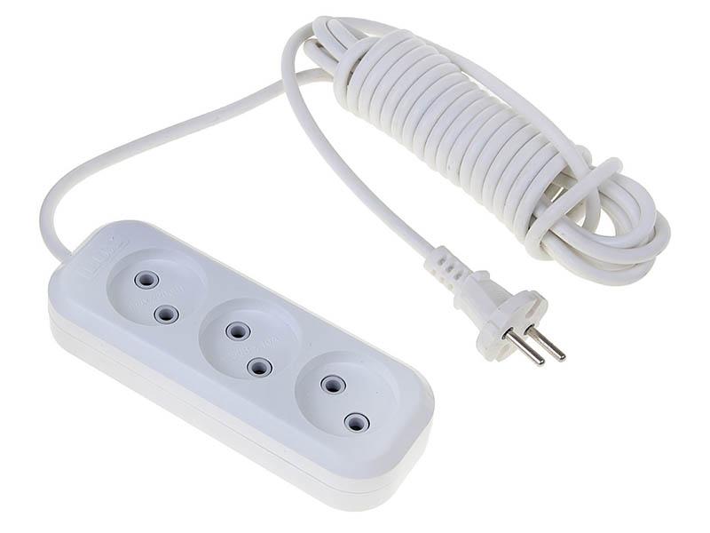 Удлинитель Lux У3-О-03 3 Sockets 3m White