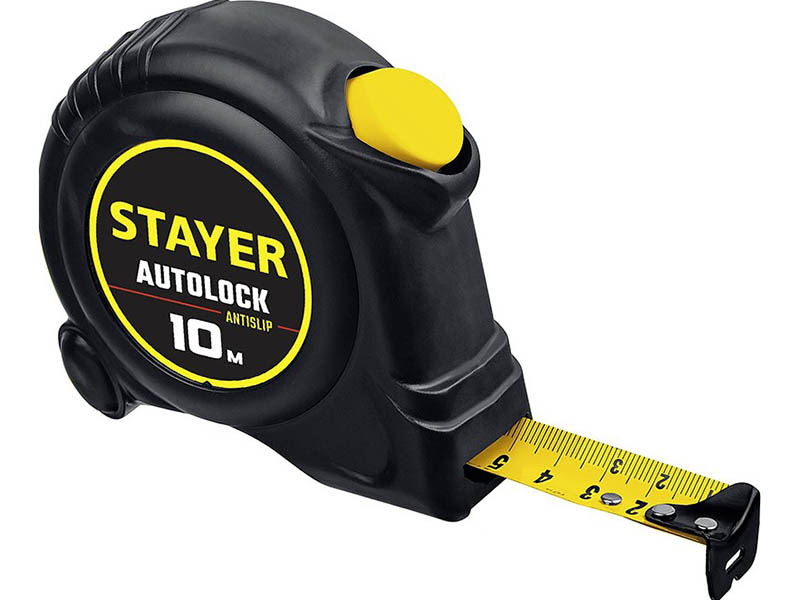 Рулетка Stayer AutoLock 10m x 25mm 2-34126-10-25