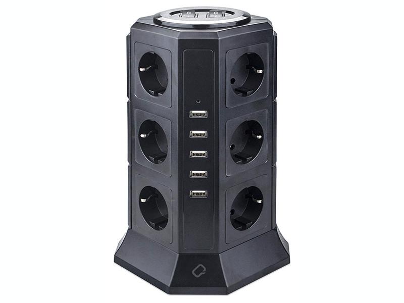 Qumo Power Tower Pro 12SP5U P-0001 12 Sockets 2m 30556