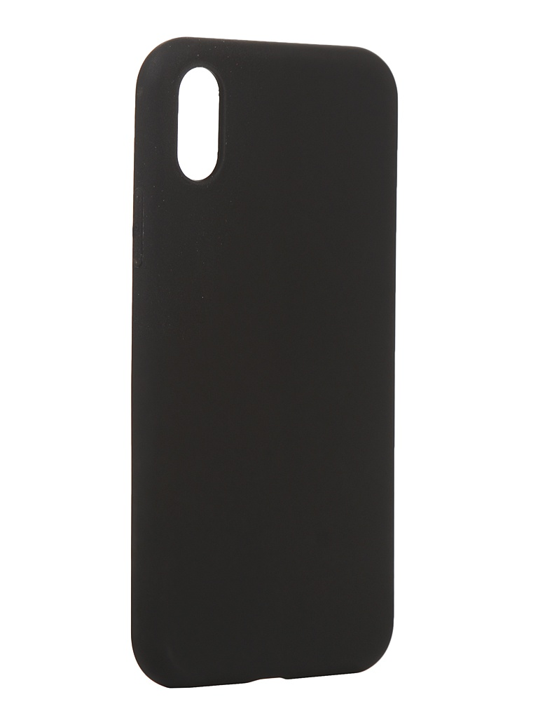 Чехол Antibacterial Case для APPLE iPhone XS \ X TPU Ag+ с антибактериальным эффектом 1mm Black AC2071P101K