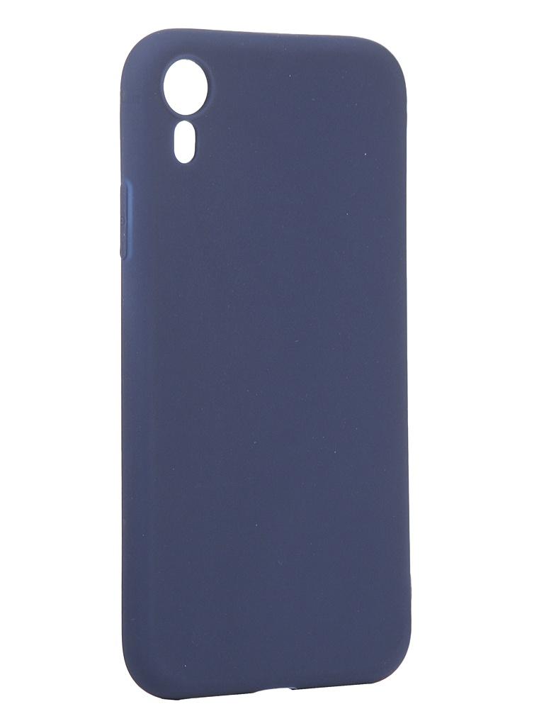 Чехол Antibacterial Case для APPLE iPhone XR TPU Ag+ с антибактериальным эффектом 1mm Blue AC2071P102B