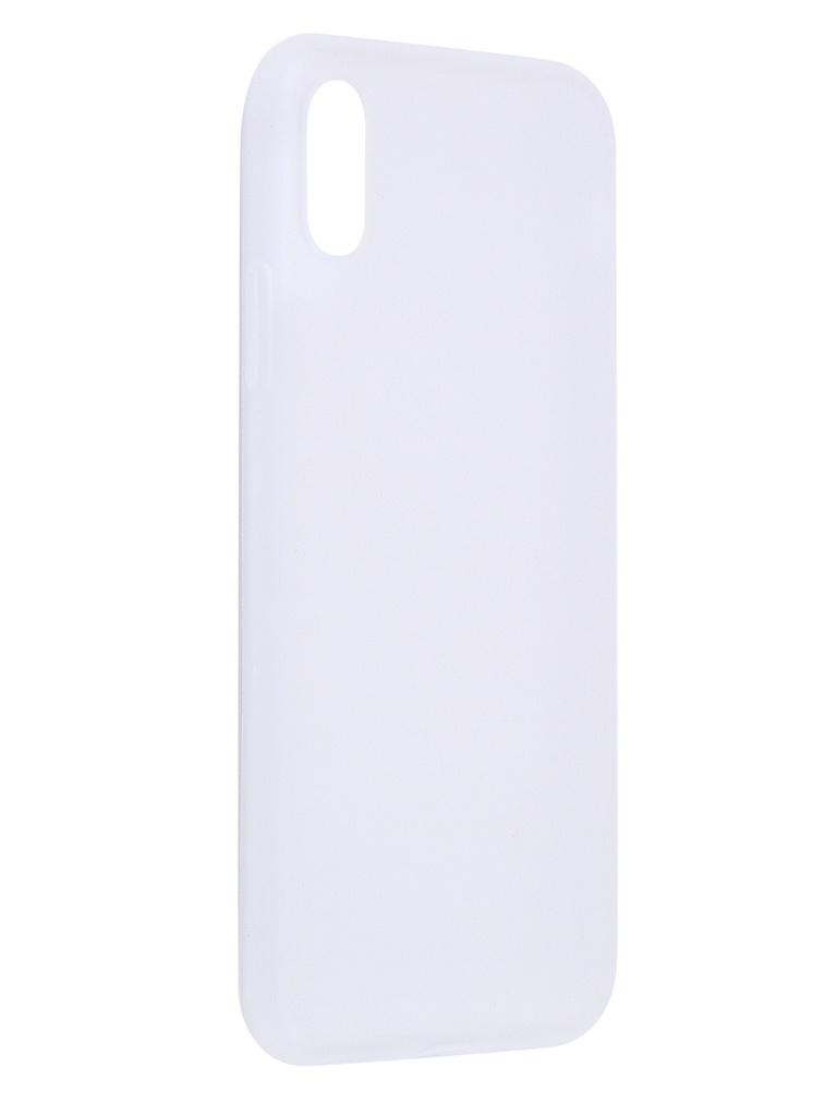 Чехол Antibacterial Case для APPLE iPhone XR TPU Ag+ с антибактериальным эффектом 1mm Matt Transparent AC2071P102M