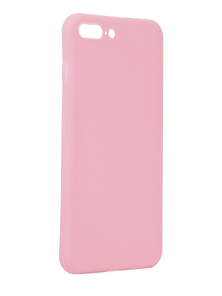 Чехол Antibacterial Case для APPLE iPhone 8 Plus \ 7 TPU Ag+ с антибактериальным эффектом 1mm Pink AC2071P812P