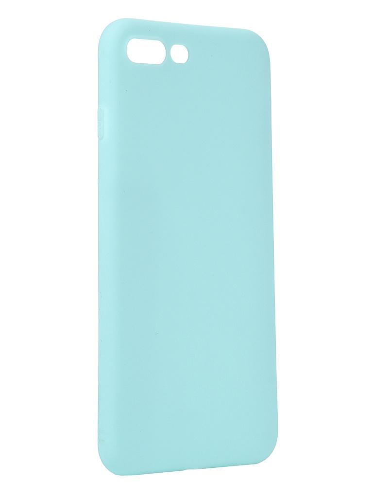 Чехол Antibacterial Case для APPLE iPhone 8 Plus \ 7 TPU Ag+ с антибактериальным эффектом 1mm Turquoise AC2071P812T