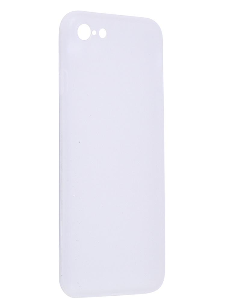Чехол Antibacterial Case для APPLE iPhone 8 \ 7 7S / SE 2020 TPU Ag+ с антибактериальным эффектом 1mm Matt Transparent AC2071P811M