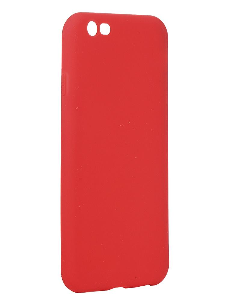 Чехол Antibacterial Case для APPLE iPhone 6 \ 6S TPU Ag+ с антибактериальным эффектом 1mm Red AC2071P611R