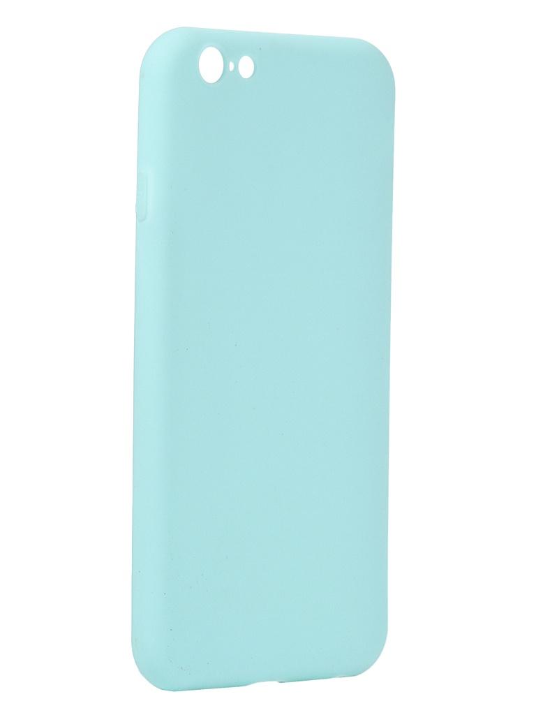 Чехол Antibacterial Case для APPLE iPhone 6 \ 6S TPU Ag+ с антибактериальным эффектом 1mm Turquoise AC2071P611T