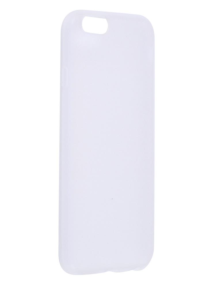 Чехол Antibacterial Case для APPLE iPhone 6 \ 6S TPU Ag+ с антибактериальным эффектом 1mm Matt Transparent AC2071P611M