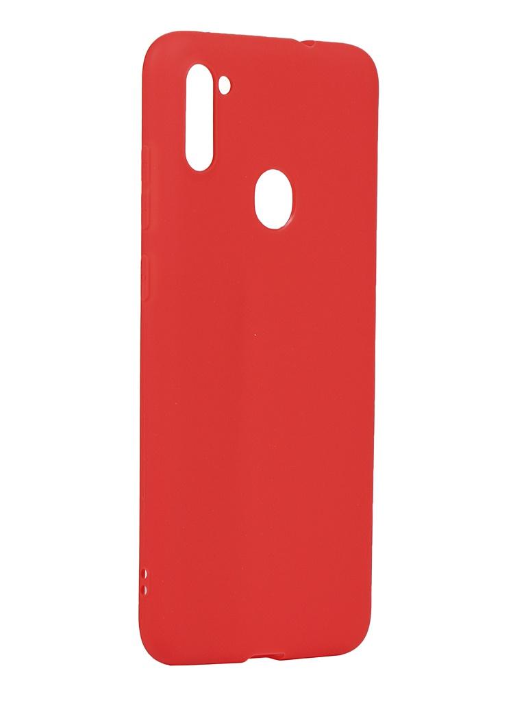 Чехол Zibelino для Samsung Galaxy A11/M11 A115/M115 Soft Matte Red ZSM-SAM-A11-RED