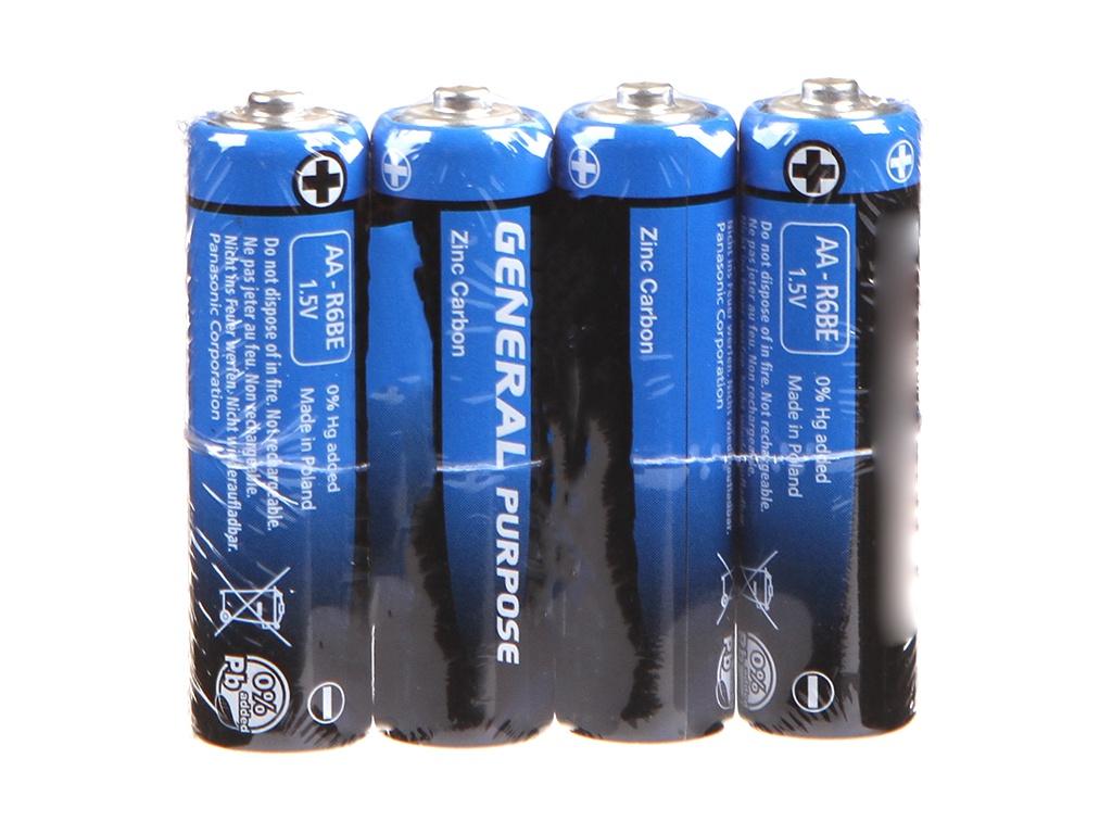 Батарейка AA - Panasonic R6 SR-4 (4 штуки)