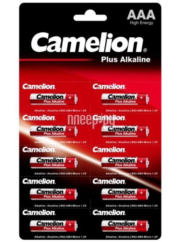 Фото - Батарейка AAA - Camelion LR03 Plus Alkaline (10 штук) LR03-BP1x10P батарейка aaa smartbuy one lr03 soba 3a40s eco 40 штук