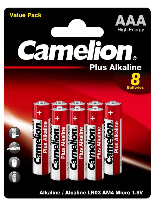 Фото - Батарейка AAA - Camelion LR03 Plus Alkaline (8 штук) LR03-BP8 батарейка aaa smartbuy one lr03 soba 3a40s eco 40 штук