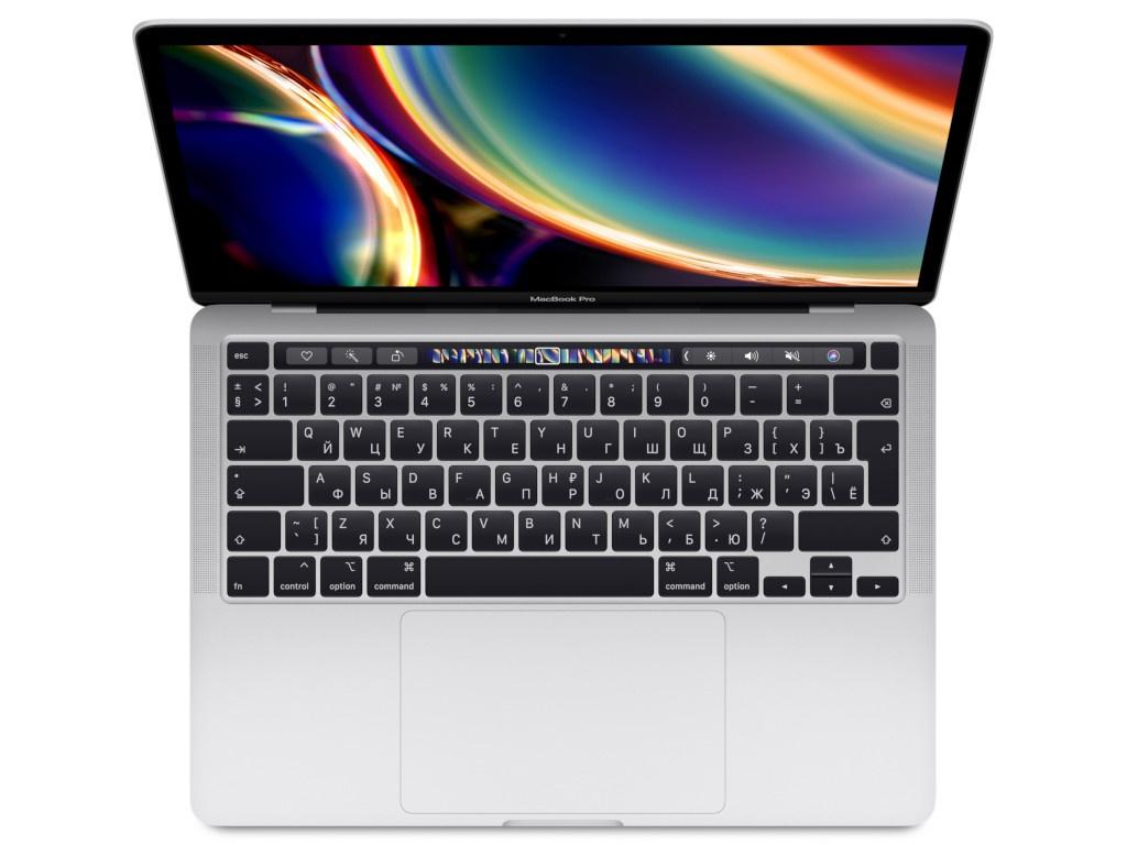 Ноутбук APPLE MacBook Pro 13 2020 MWP72RU/A Silver Выгодный набор + серт. 200Р!!!(Intel Core i5 2.0 GHz/16384Mb/512Gb SSD/Intel Iris Plus Graphics/Wi-Fi/Bluetooth/Cam/13.3/2560x1600/Mac OS)