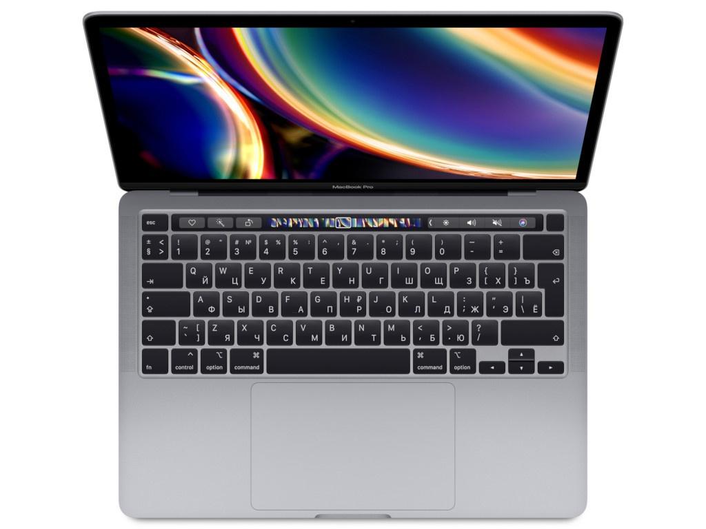 Ноутбук APPLE MacBook Pro 13 2020 MXK52RU/A Space Grey Выгодный набор + серт. 200Р!!!(Intel Core i5 1.4 GHz/8192Mb/512Gb SSD/Intel Iris Plus Graphics/Wi-Fi/Bluetooth/Cam/13.3/2560x1600/Mac OS)