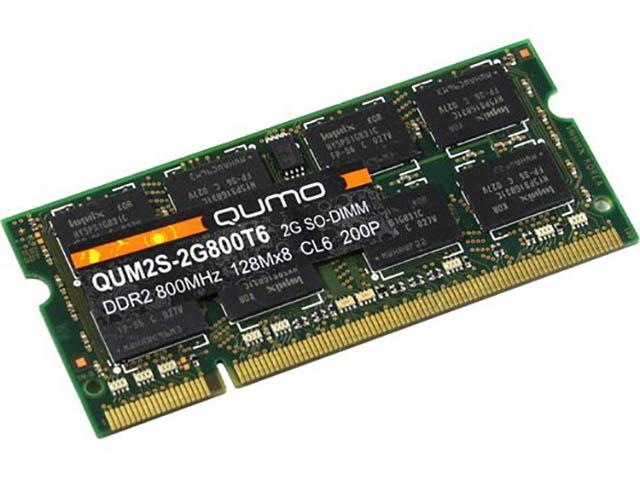 Модуль памяти Qumo DDR2 SO-DIMM 800MHz PC-6400 CL6 - 2Gb QUM2S-2G800T6
