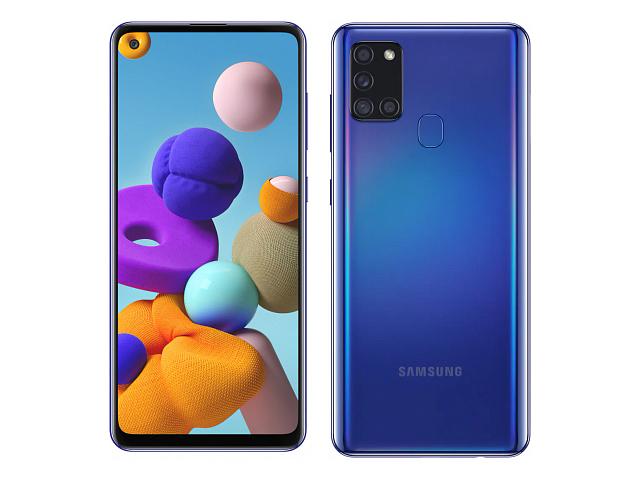 Сотовый телефон Samsung SM-A217F Galaxy A21s 3/32Gb Blue Выгодный набор + серт. 200Р!!!