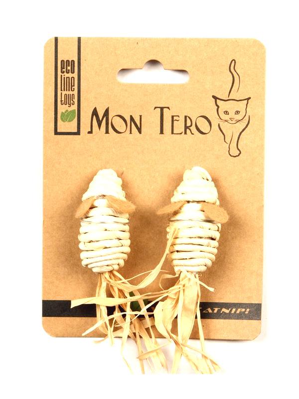 Игрушка для кошек Mon Tero Эко Мышь с кошачьей мятой 2шт Beige 51483