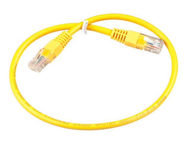 Сетевой кабель ExeGate UTP Cat.5e 0.5m Yellow UTP-RJ45-RJ45-5e-0,5M-YL EX172880RUS