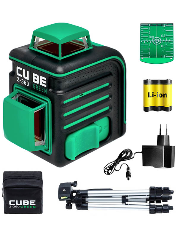 Нивелир ADA instruments CUBE 2-360 Green Professional Edition (А00534) со штативом