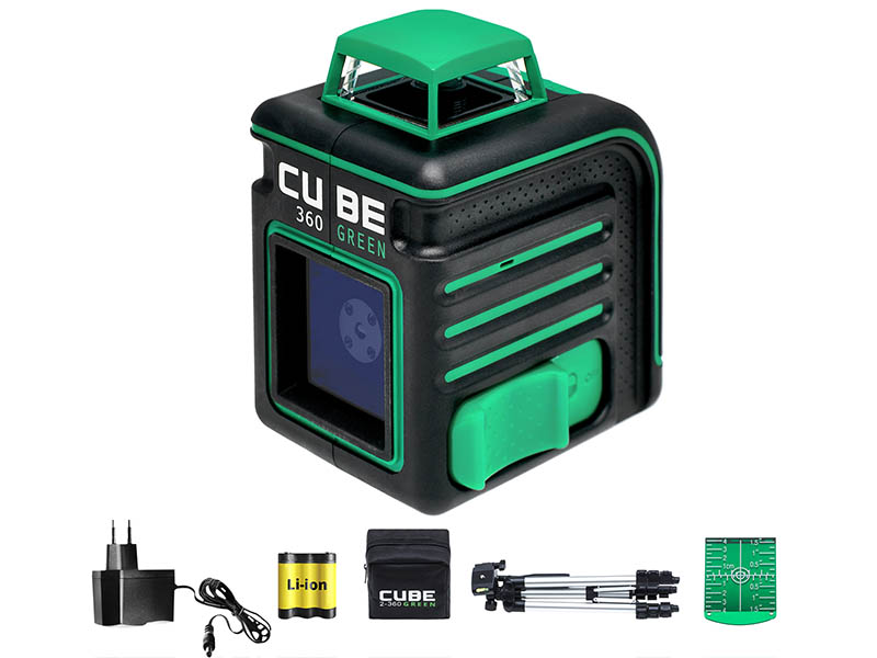 Нивелир ADA instruments CUBE 360 Green Professional Edition (А00535) со штативом