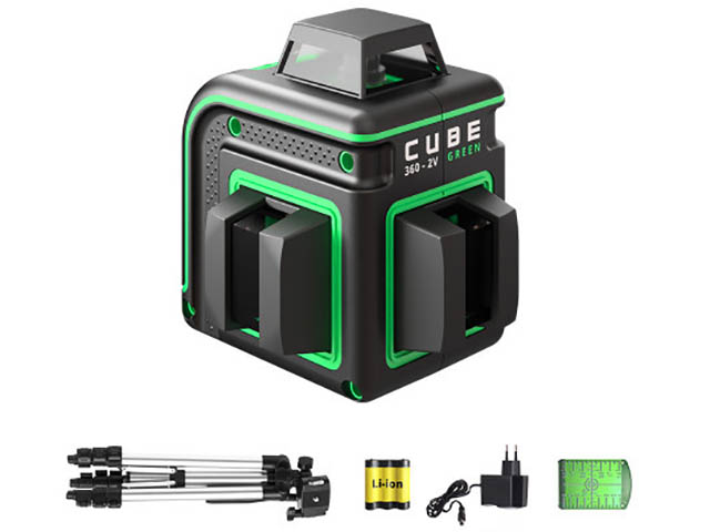 Нивелир ADA Cube 360-2V Green Professional Edition А00571
