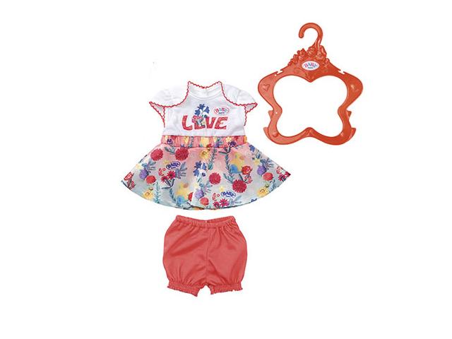 Одежда для куклы Zapf Creation Baby Born Цветочные платья с шортиками 826-973