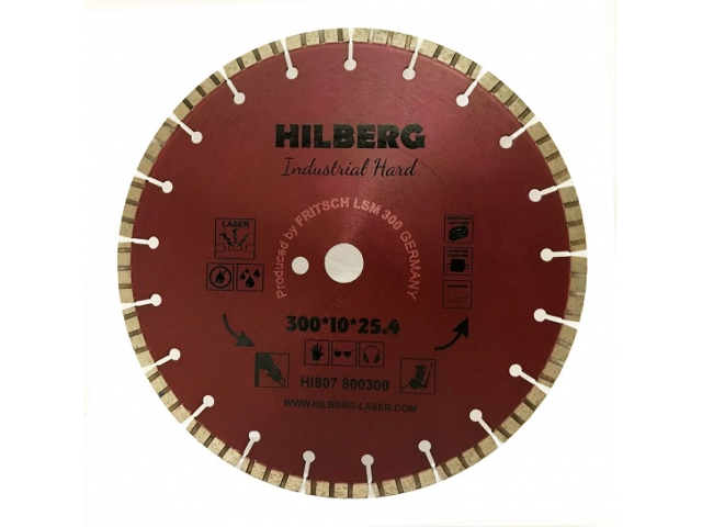 Диск Trio Diamond Hilberg Industrial Hard Laser HI807 300x10x25.4x12mm