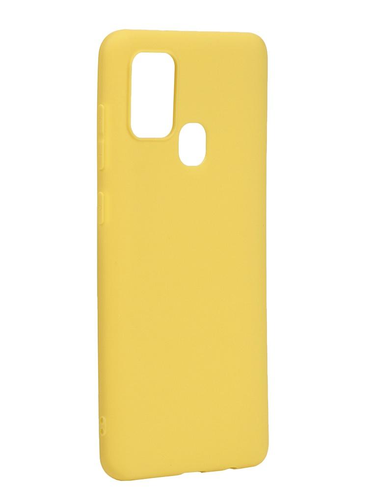 Чехол Neypo для Samsung Galaxy A21s 2020 Soft Matte Silicone Yellow NST17621