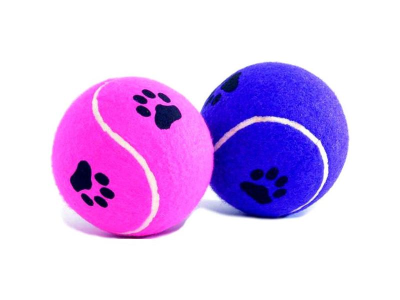 Игрушка для собак Beeztees Мячик теннисный с отпечатками лап 10cm 625596 / 16211