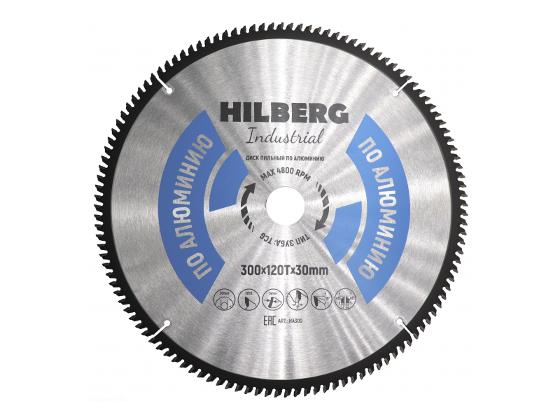 Диск Trio Diamond Hilberg Industrial HA300 пильный по алюминию 300x30mm 120 зубьев
