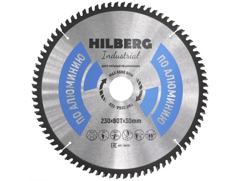Диск Trio Diamond Hilberg Industrial HA230 пильный по алюминию 230x30mm 80 зубьев