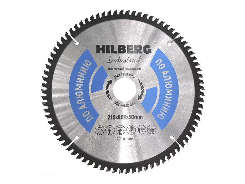 Диск Trio Diamond Hilberg Industrial HA210 пильный по алюминию 210x30mm 80 зубьев