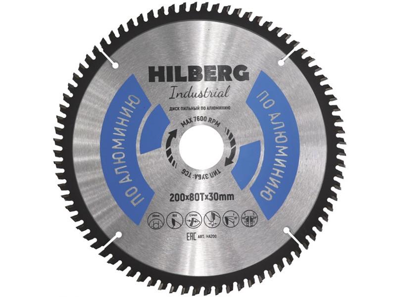 Диск Trio Diamond Hilberg Industrial HA200 пильный по алюминию 200x30mm 80 зубьев