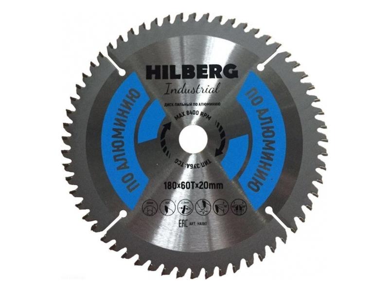 Диск Trio Diamond Hilberg Industrial HA180 пильный по алюминию 180x20mm 60 зуба