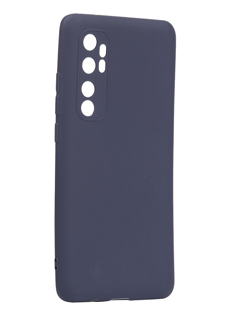 Чехол Neypo для Xiaomi Mi Note 10 Lite Soft Matte Silicone Dark Blue NST17635 аксессуар чехол neypo для huawei y6 prime 2018 soft matte dark blue nst4621