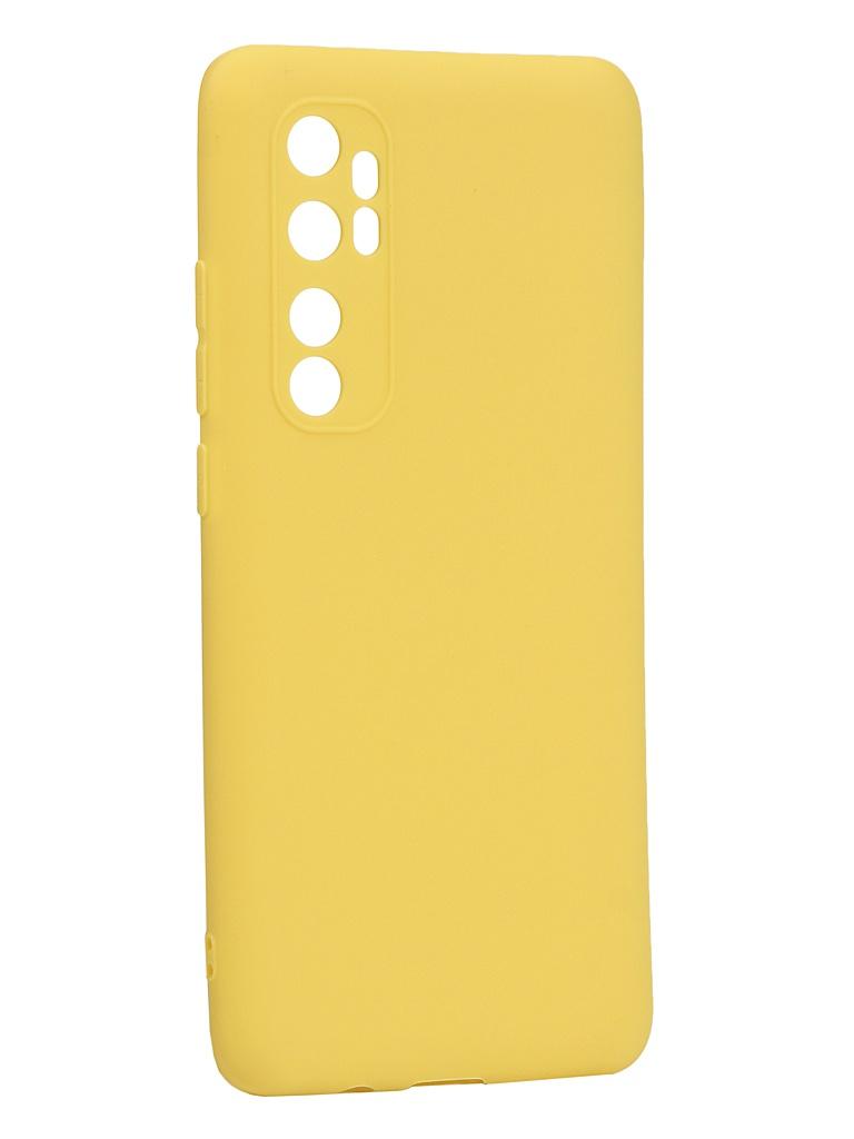 Чехол Neypo для Xiaomi Mi Note 10 Lite Soft Matte Silicone Yellow NST17639